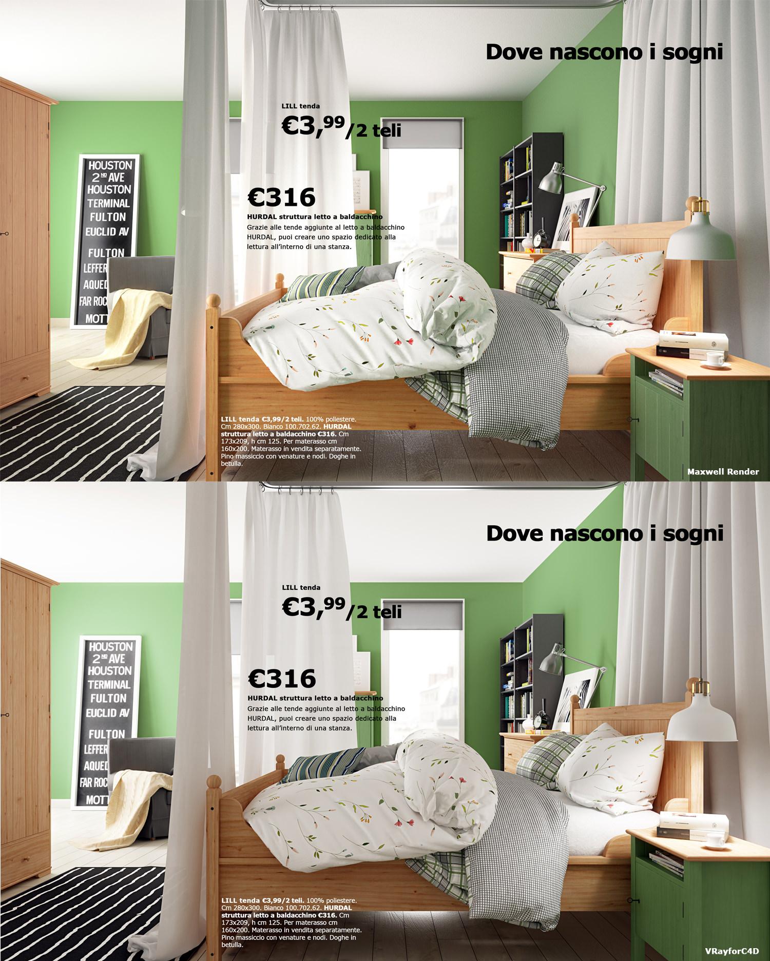 Letto Ikea A Baldacchino.Ikea Scene Vrayforc4d Vs Maxwell Render 3dtotal Forums